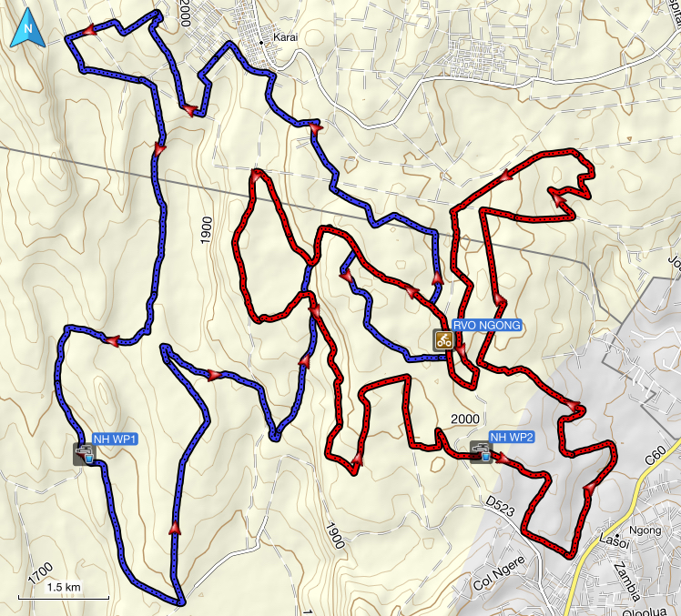 RVO Ngong map